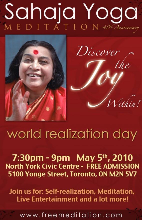Sahaja Meditation program for Sahasrara in Toronto