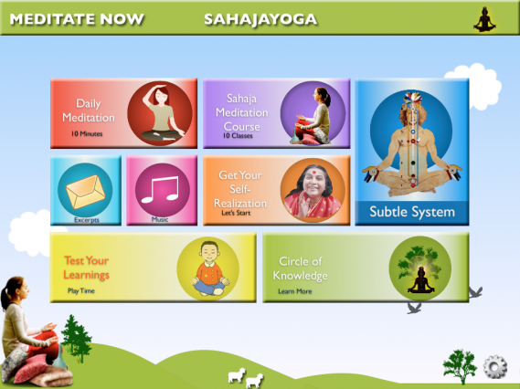 Sahaja Yoga iPad Application