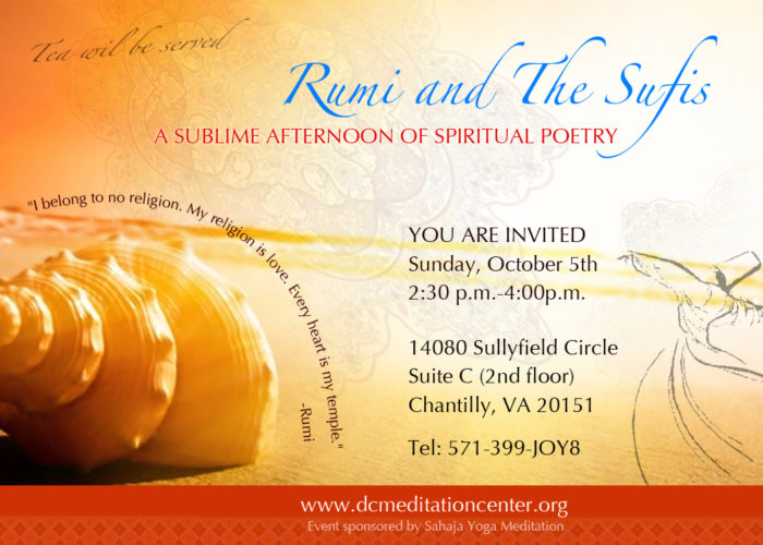 Rumi and the Sufis Poetry Event